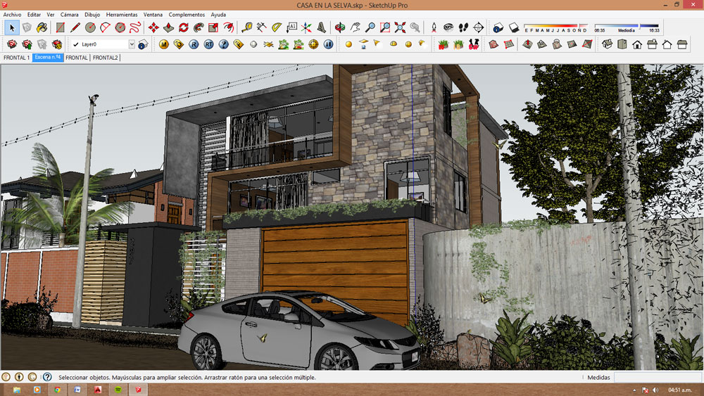 free sketchup model modern villa #27 sketchup file