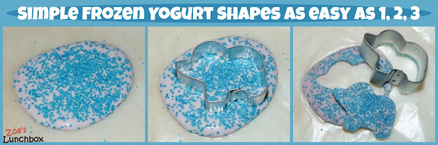 Zoe's Lunchbox frozen yogurt shape tutorial