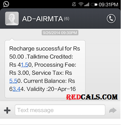 free 50 Rs recharge