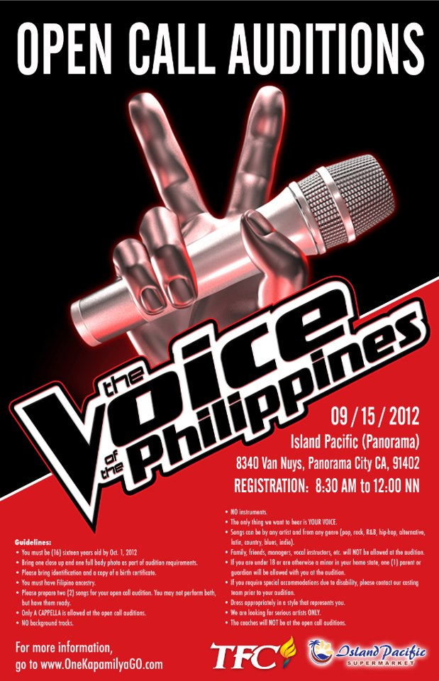 The Voice of the Philippines\' audition schedule - Reyn\'s Room