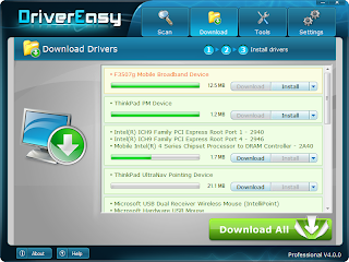 DriverEasy download and install screen shot