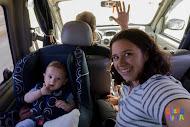 Ultimas Noticias viajeras: Estamos en Las Grutas, Rio Negro. Es el primer viaje largo de Oliverio
