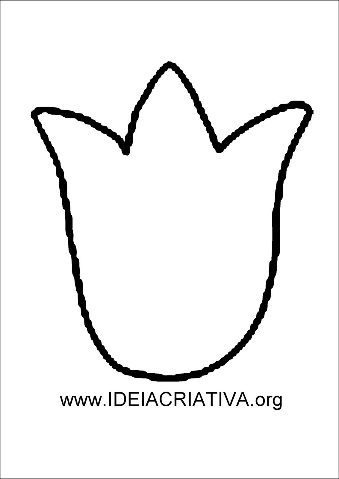 molde tulipa para imprimir grátis