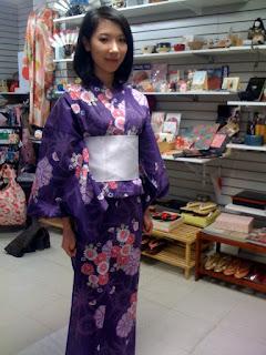 Yukata for Cherry Blossom Festival from Kimono House NY 212-505-0232