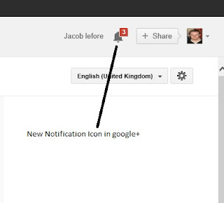 New Google+ notification icon
