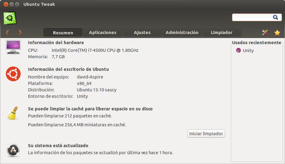 Minimizar ventanas desde Unity, ubuntu tweak, configurar unity,