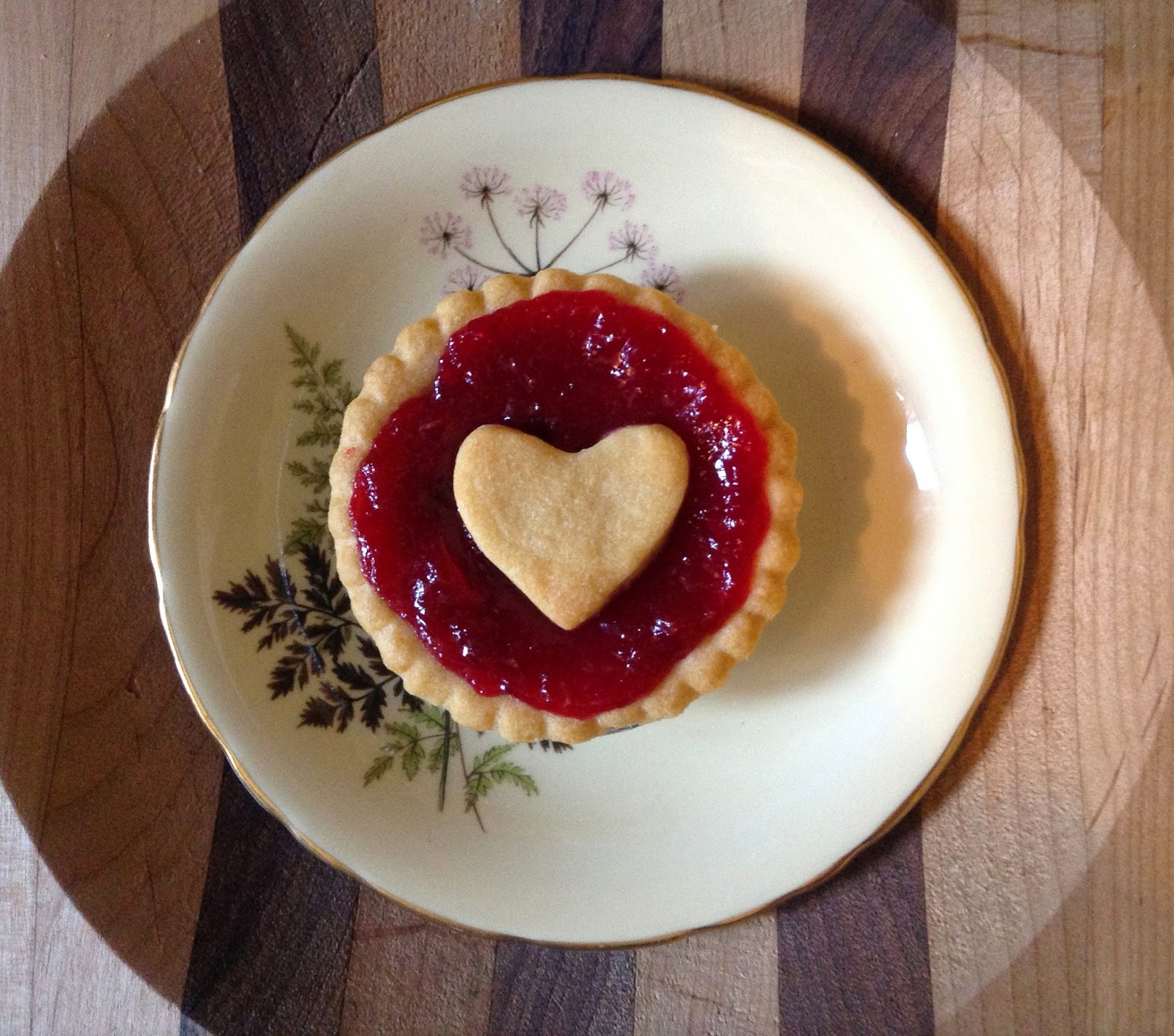 Cranberry Tart with Heart cutout