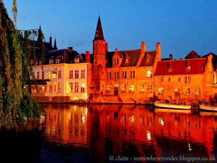 Bruges, Belgium in Autumn - by night