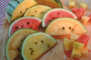rainbow melons from Renee's Seeds - a warm season crop