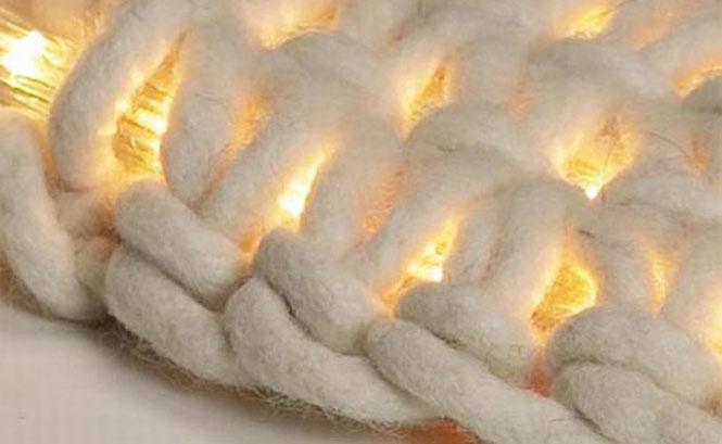 Вязаный коврик своими руками