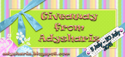 Giveaway from Adyshariz