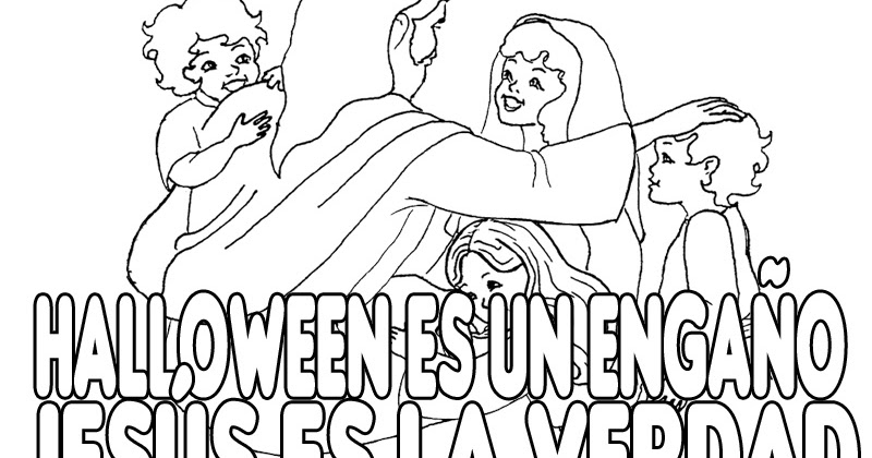 foto de Dibujos Cristianos contra Halloween para colorear