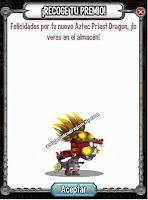imagen del premio de sacerdote azteca de dragon city