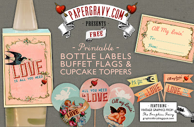 Vintage Printables Valentines
