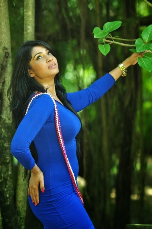 Aksha Sudari hot blue tight dress