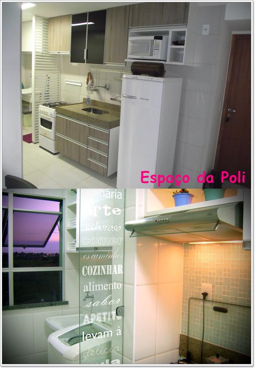 decoracao cozinha e area de servico integradas: da Poli: Cozinha + Área de Serviço integrada ideias de decoração