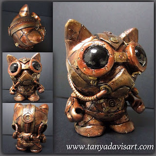 Trikky Munny, customized toy, munny steampunk, Tanya Davis