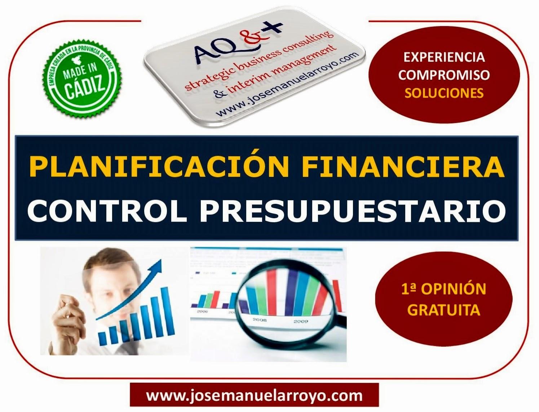 PLANIFICACIÓN FINANCIERA Y CONTROL PRESUPUESTARIO