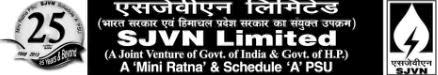 Invited Application at SJVN Ltd., for Engineers in January 2014 apply only on