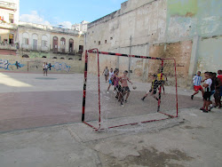 Street futbol with the youth of Havana