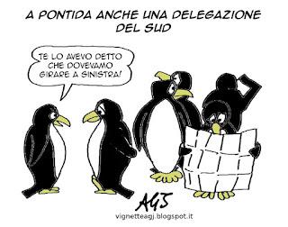 Pontida, Lega satira vignetta