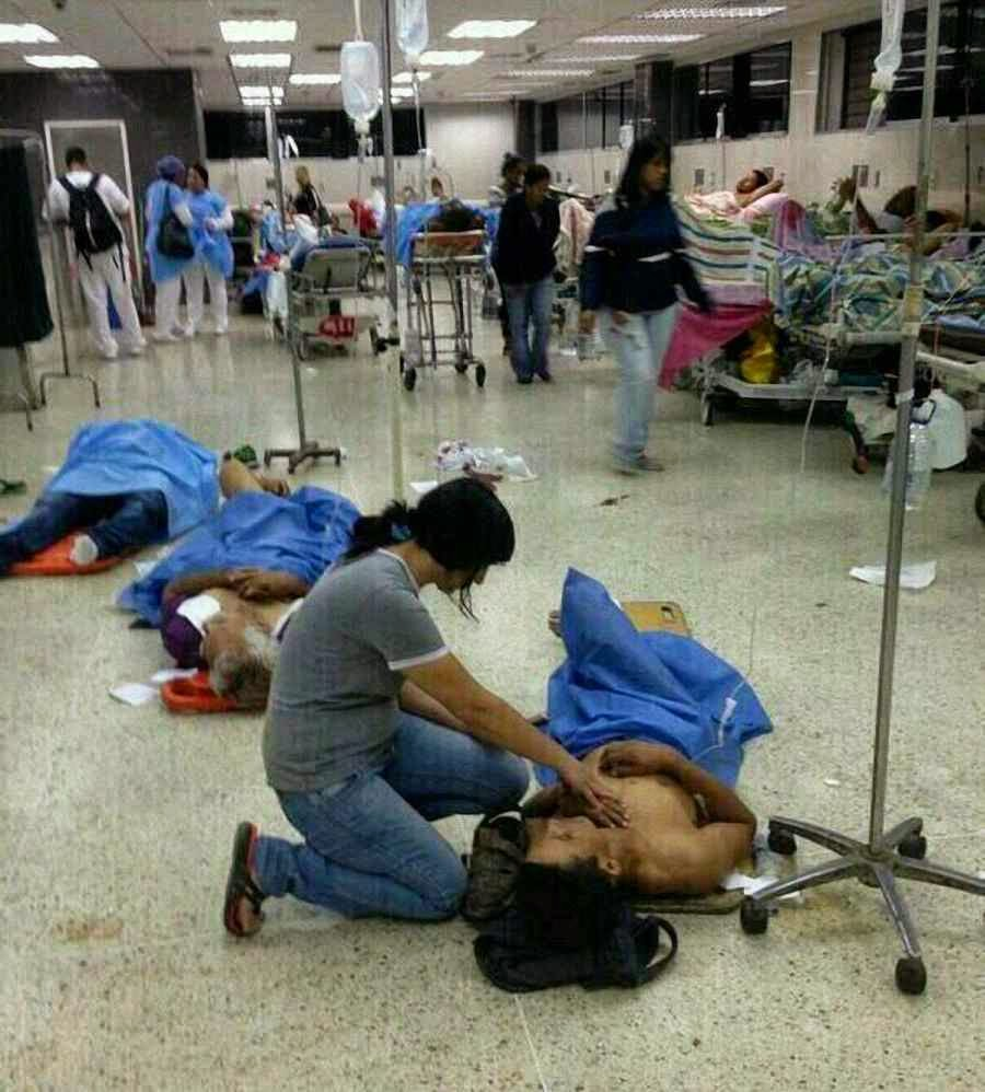 Hospital Pérez Carreño, Caracas, com crise de insumos