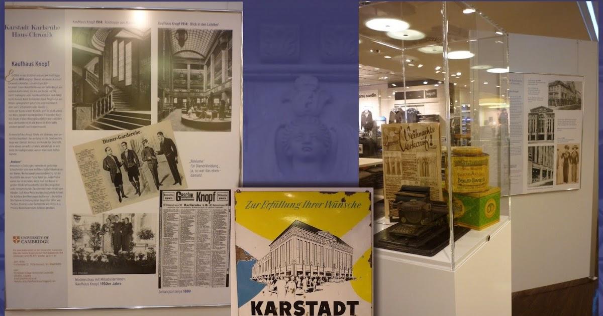 Kaufhaus Knopf Ausstellung 130 Jahre Karstadt Knopf