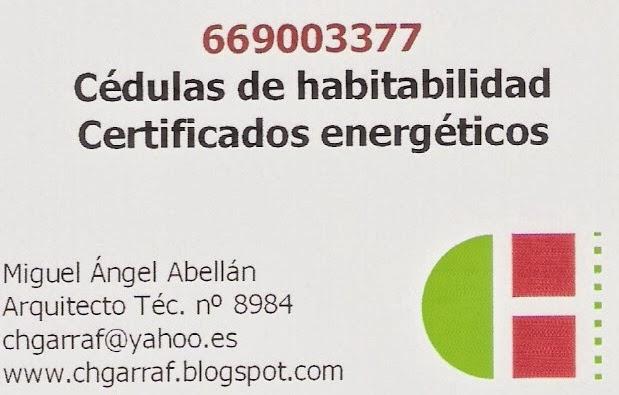 Certificados energéticos - Cédulas habitabilidad