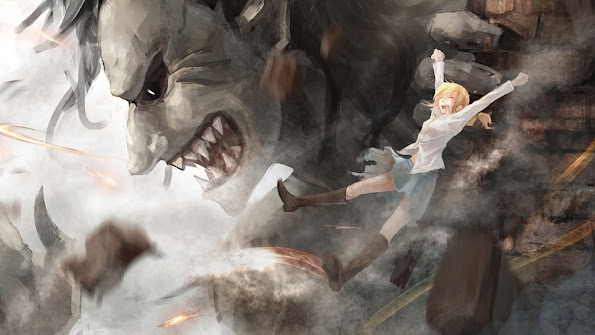 dancing titan ymir christa renz attack on titan shingeki no kyojin anime hd wallpaper