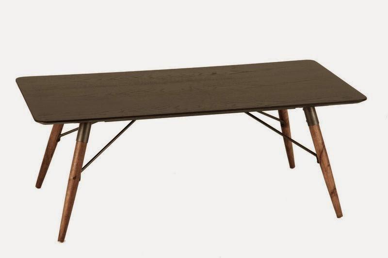 Mesa centro metal y madera