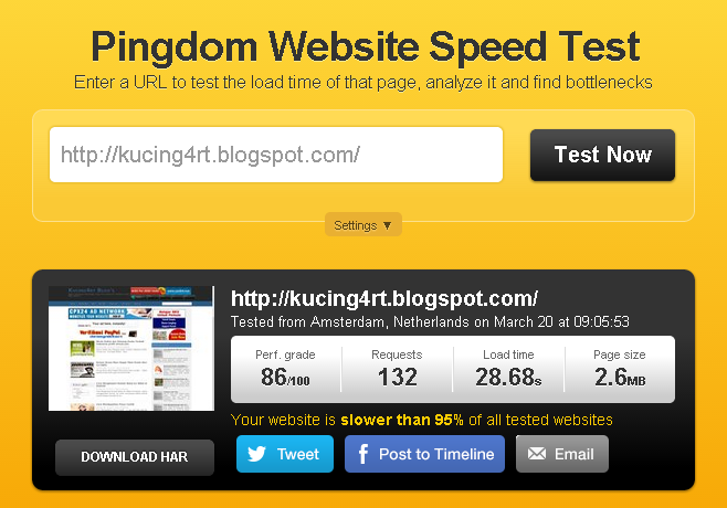 Cara Cek Kecepatan Loading Blog atau Website