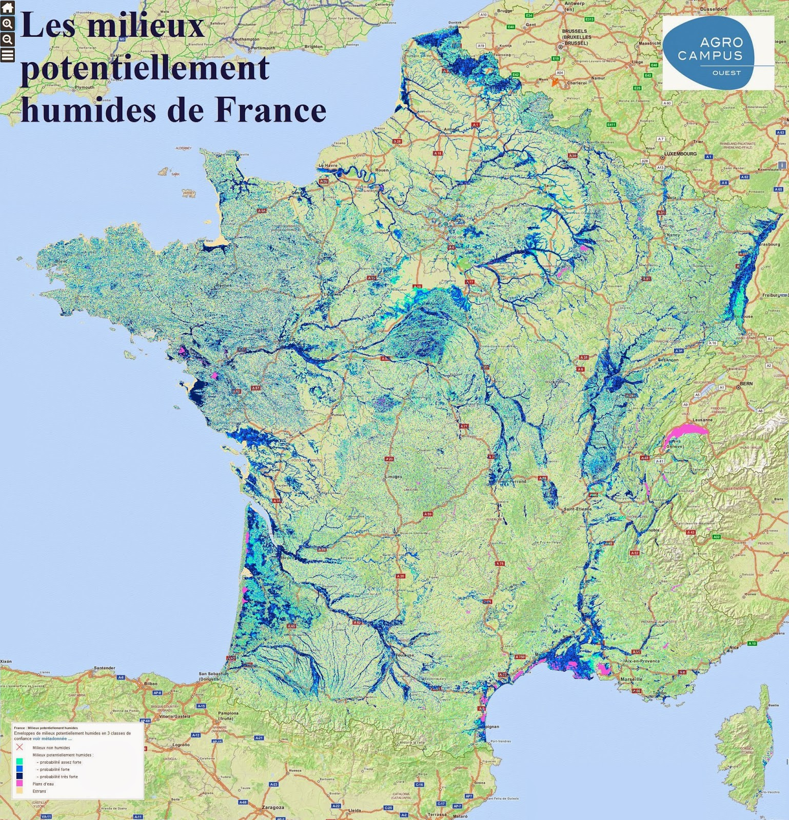 Carte Des Etangs De France | My blog