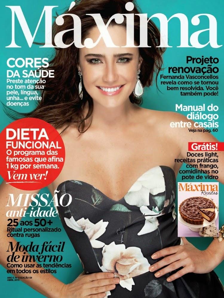Actress @ Fernanda Vasconcellos - Máxima Brazil, April 2015