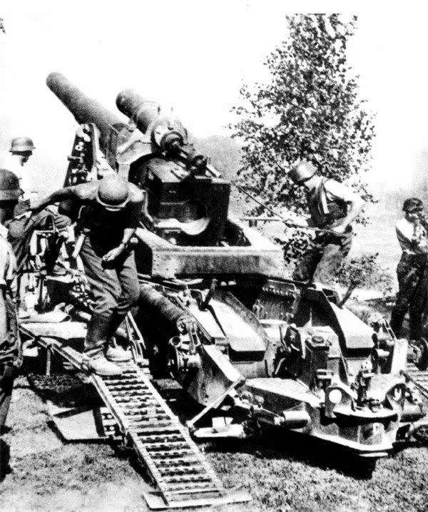 Немецкое тяжелое 210-мм орудие Moerser 18