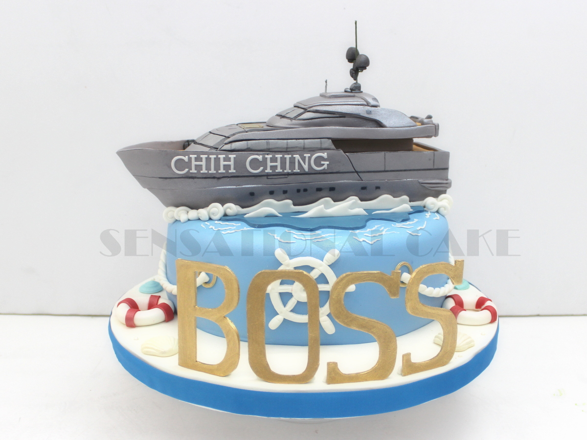 The Sensational Cakes: YACHT CAKE FOR A BOSS # ONE MARINA ...