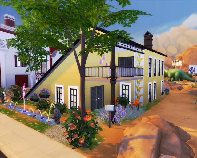 Sims 4 Half A-Frame House