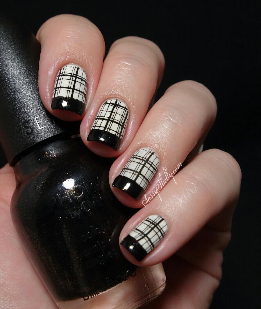 Wild French Tip Nail Designs: Digit-al Dozen DOES Black & White