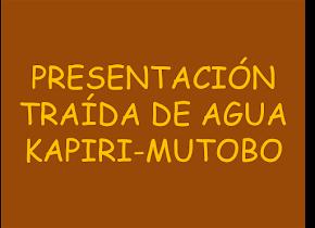 TRAIDA DE AGUAS MULAMBA-MUTOBO
