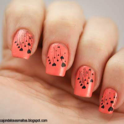 China Glaze Mimosa's before manis - stamping m83