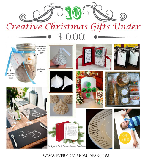 AS a mom on a budget Im always on the lookout for those great gifts that  really show that you care but goes easy on my wallet. - 10 Creative Christmas Gifts Under $10 (2012) - Everyday Mom Ideas