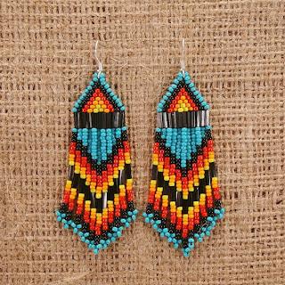 tribal earrings native american beadwork beaded directory