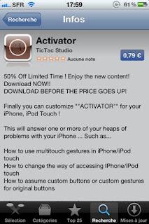 false Activator arrives on the App Store