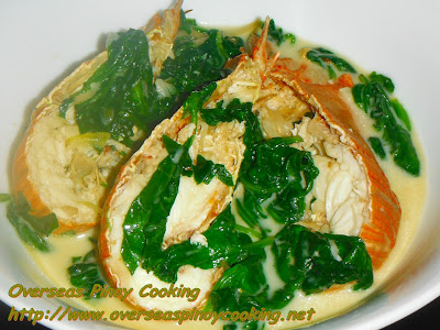 Slipper Lobster in Coconut Milk with Spinach