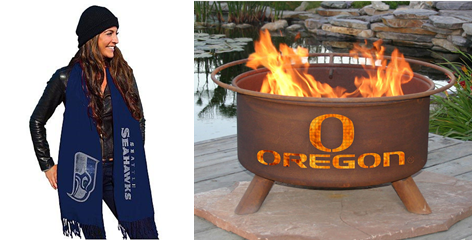 NFL Bling Pashmina Scarf and College Team Fire Pit