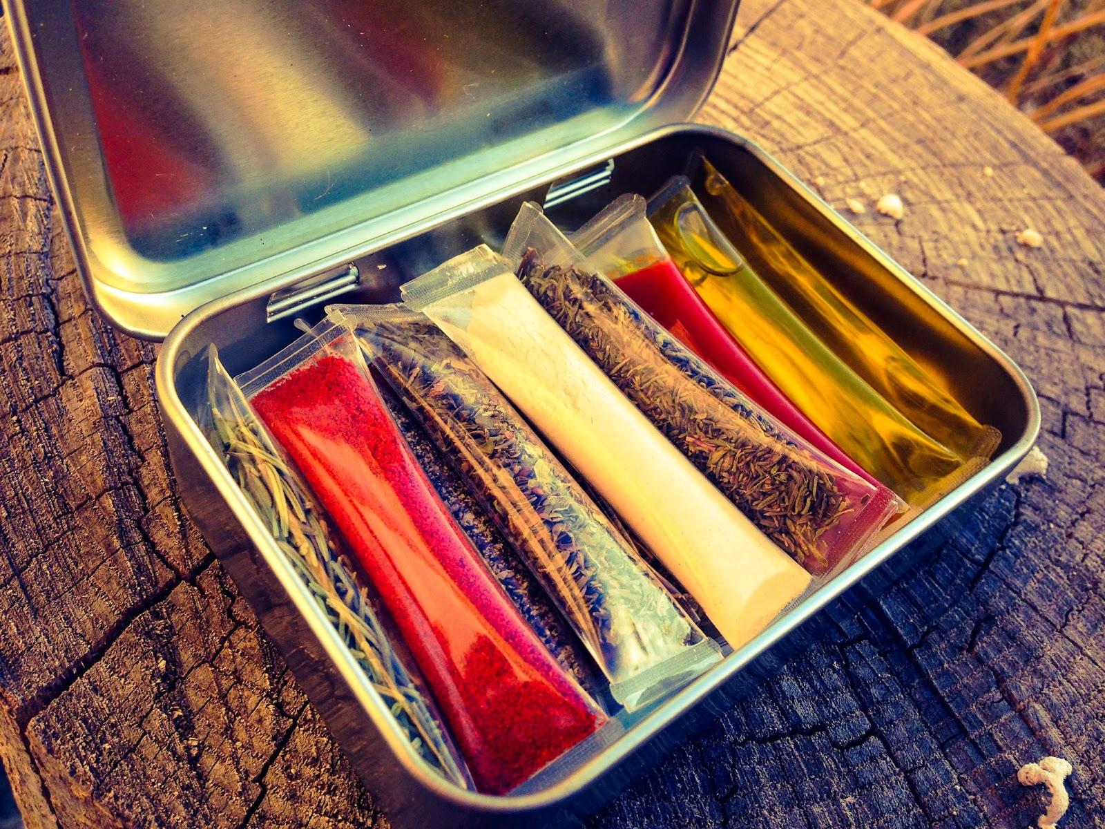 Travel spice kit altoid tin