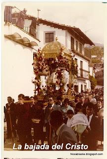 Bajada del Crist en Candelario Salamanca años 80