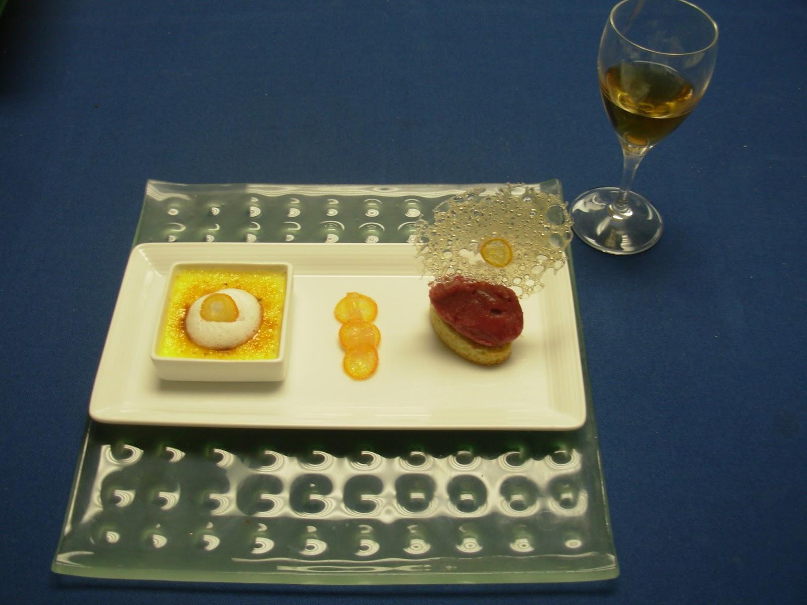 Beerenauslese Riesling white dessert wine pairing. Vanilla brulee with ...