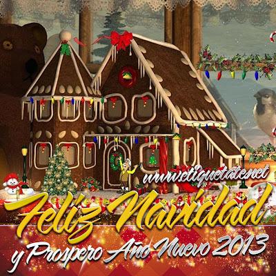 Imágenes para etiquetar en Facebook de Casitas Navideñas Gratis