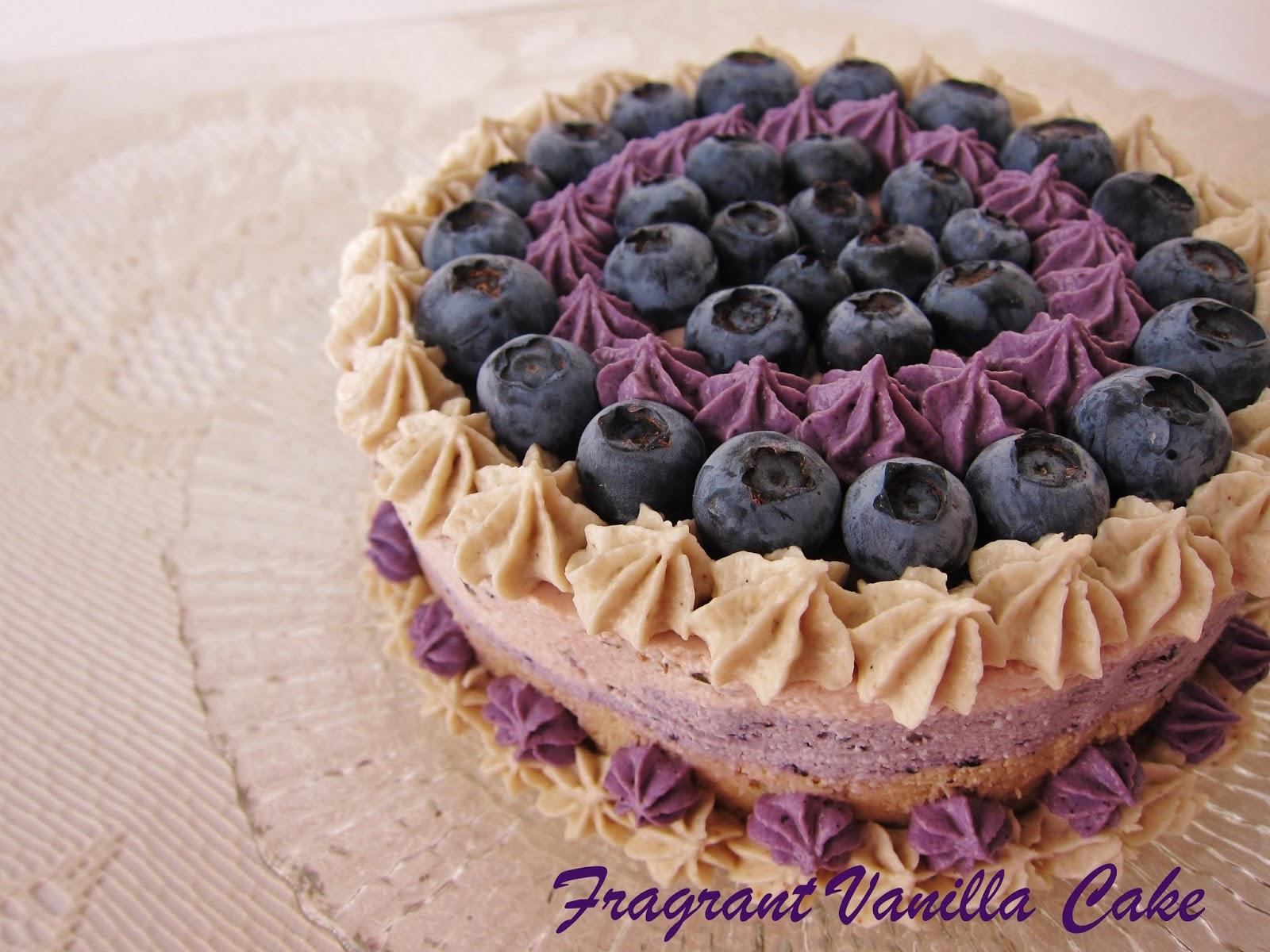 Raw Blueberry Almond Lavender Cake | Fragrant Vanilla Cake