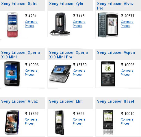 Sony Ericsson phones price list with pictures ..... ~ Find mobile ...